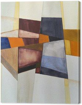 Modernistinen abstrakti akvarelli Kangastuloste