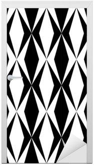 Kapı Çıkartması Geometrik desen