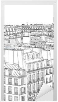 Kapı Çıkartması Paris'te çatılar