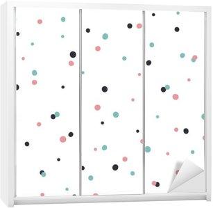 Kaststicker Abstracte naadloze patroon op witte achtergrond met zwarte en Gol