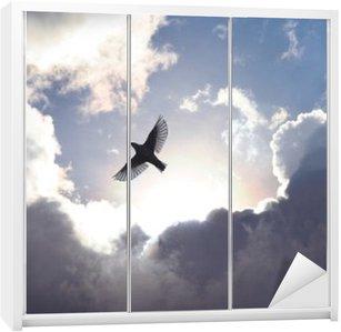 Kaststicker Engel Vogel in de Hemel
