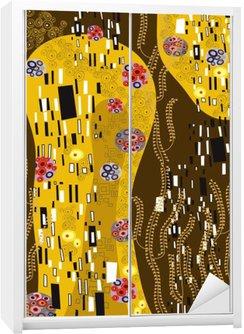 Kaststicker Klimt geà ¯ nspireerd abstracte kunst