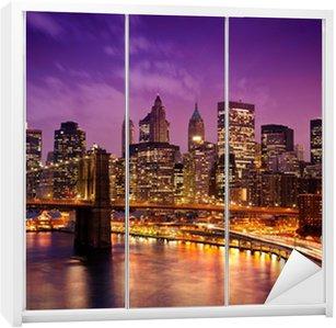 Kaststicker New York Manhattan Pont de Brooklyn