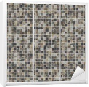 Kaststicker Vierkante naadloze textuur van mozaïektegels 07