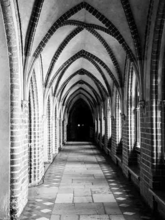 Fototapeta Vinylowa Klasztor z gotyckim żebra sklepienia sufitu - Budynki i architektura