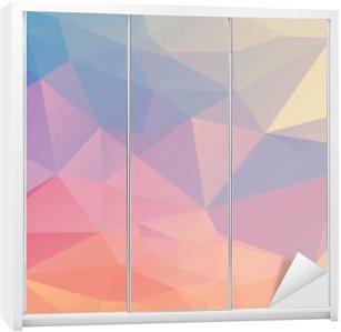 Klesskapklistremerke Fargerik polygon