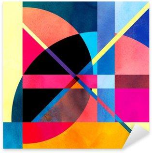 Abstrakt akvarel baggrund Pixerstick Klistermærke