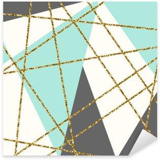 Abstrakt Geometrisk Sammensætning Pixerstick Klistermærke