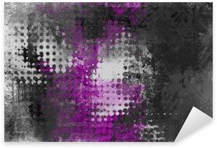 Abstrakt grunge baggrund med grå, hvid og lilla Pixerstick Klistermærke