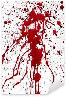 Blodige stænk Pixerstick Klistermærke