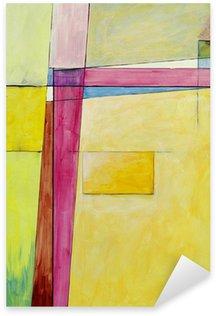 Et abstrakt maleri Pixerstick Klistermærke