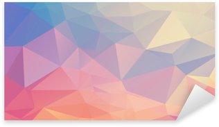 Farverig polygon Pixerstick Klistermærke