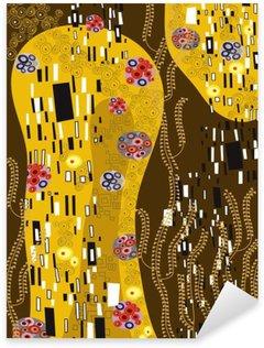 Klimt inspireret abstrakt kunst Pixerstick Klistermærke