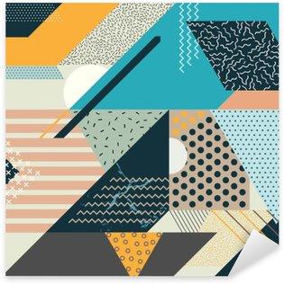 Kunst geometrisk baggrund Pixerstick Klistermærke