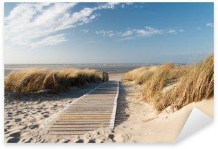 Nordsee Strand auf Langeoog Pixerstick Klistermærke