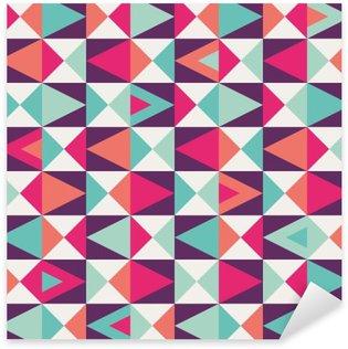 Sømløse geometriske mønster Pixerstick Klistermærke