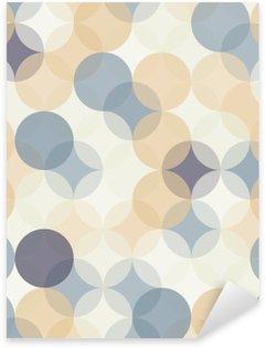 Vektor moderne sømløse farverige geometri mønster cirkler, farve abstrakt geometrisk baggrund, tapet print, retro tekstur, hipster mode design, Pixerstick Klistermærke
