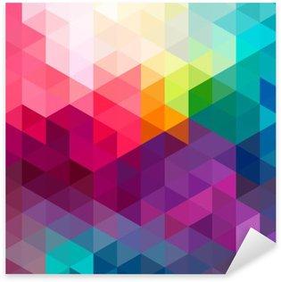 Pixerstick-Klistremerke Abstrakt fargerik sømløs mønster bakgrunn