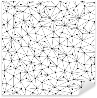 Pixerstick-Klistremerke Polygonal bakgrunn, sømløs mønster, linjer og sirkler