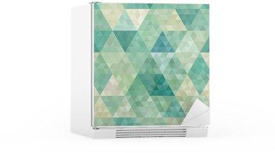 Koelkaststicker Naadloze achtergrond met abstracte geometrische versiering