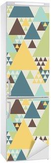 Abstrakt geometrisk mønster # 2 Køleskab Klistermærke