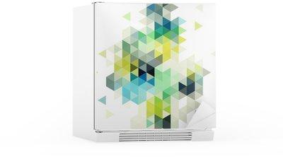 Abstrakt lav poly baggrund, vektor Køleskab Klistermærke