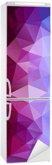Abstrakt polygonal baggrund Køleskab Klistermærke