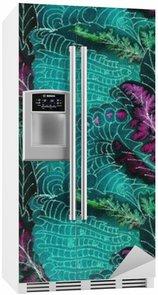 Batik mønster Køleskab Klistermærke