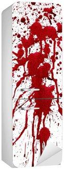 Blodige stænk Køleskab Klistermærke