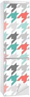 Houndstooth sømløs mønster, farverig Køleskab Klistermærke