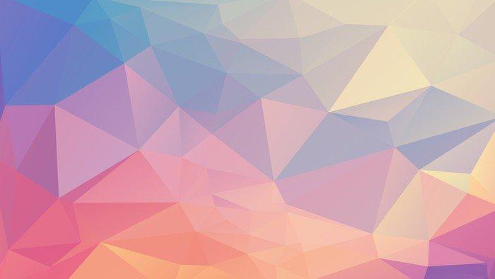 Naklejka na Drzwi Kolorowe wielokąta - Zasoby graficzne