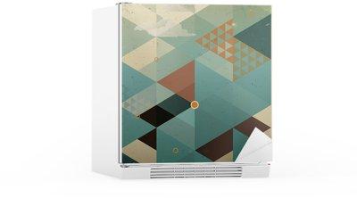 Kühlschrankaufkleber Abstract Retro Geometrische Hintergrund mit Wolken