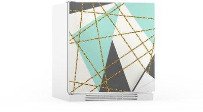 Kühlschrankaufkleber Abstrakte geometrische Komposition