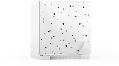 Kühlschrankaufkleber Abstrakte nahtlose Muster auf weißem Hintergrund mit Schwarz und Gol