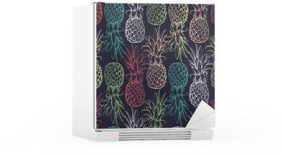 Kühlschrankaufkleber Ananasse nahtlose Muster