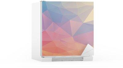 Kühlschrankaufkleber Bunte Polygon