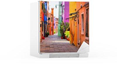 Kühlschrankaufkleber Farbenfrohe Straße in Italien