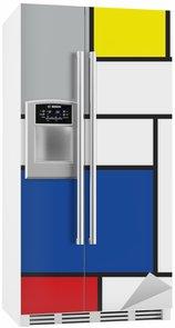 Kühlschrankaufkleber Mondrian inspirierten Kunstwerke