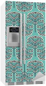 Kühlschrankaufkleber Nahtlose Wald-Muster