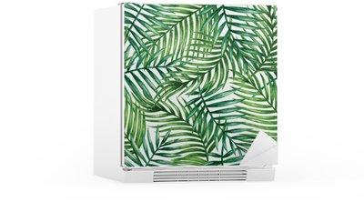 Kühlschrankaufkleber Watercolor tropical palm leaves seamless pattern. Vector illustration.