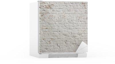 Kühlschrankaufkleber Weiß Grunge Mauer Hintergrund