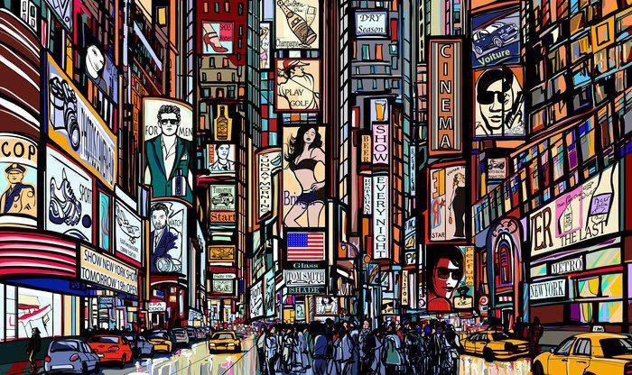 Kwadryptyk Ulica w Nowym Jorku - Tematy