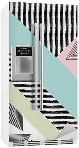 Kylskåpsdekor Abstrakt handritad geometriskt mönster