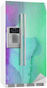 Kylskåpsdekor Abstrakt vattenfärg bakgrund design