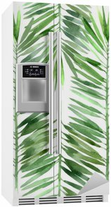 Kylskåpsdekor Akvarell palm blad sömlös