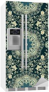 Kylskåpsdekor Damast sömlösa mönster