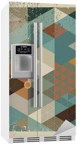 Kylskåpsdekor Geometrisk Bakgrund