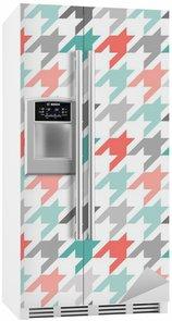 Kylskåpsdekor Houndstooth seamless, färgglatt