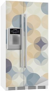 Kylskåpsdekor Modern vektor seamless färgrik geometri mönster cirklar, färg abstrakt geometrisk bakgrund, tapet print, retro textur, hipster modedesign, __