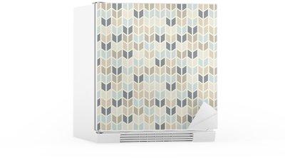 Kylskåpsdekor Sömlös geometriska mönster i pastellnyanser